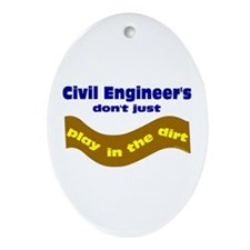Civil Engineers Play Oval Ornament