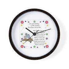 Secret Pal Birthday Wall Clock