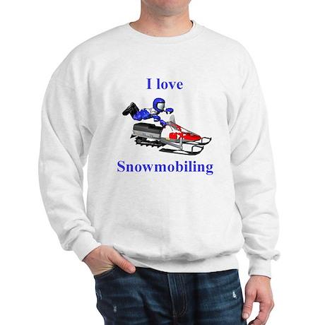 I Love Snowmobiling Sweatshirt