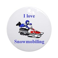 I Love Snowmobiling Ornament (Round)