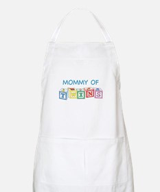Mommy of Twins Blocks BBQ Apron