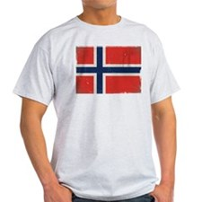 antiqued Norwegian flag T-Shirt