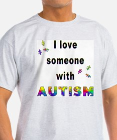 I Love Someone With Autism! Ash Grey T-Shirt