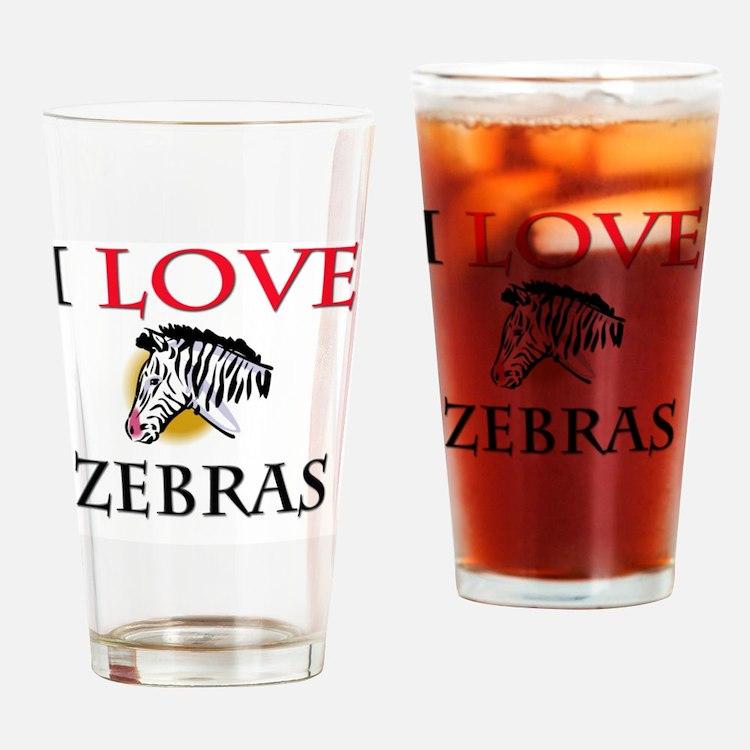 ZEBRAS171 Drinking Glass