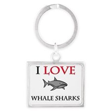 WHALE-SHARKS14216 Landscape Keychain