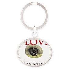 TASMANIAN-DEVILS341 Oval Keychain