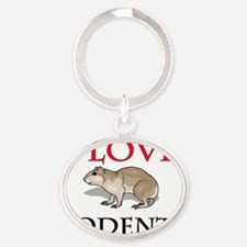 RODENTS13392 Oval Keychain