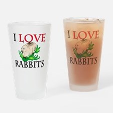 RABBITS10110 Drinking Glass