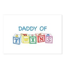 Daddy of Twins Blocks Postcards (Package of 8)