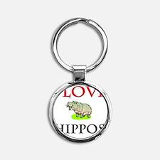 HIPPOS57232 Round Keychain