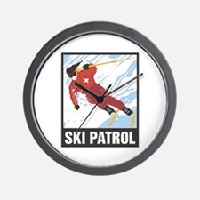 Ski Patrol Wall Clock