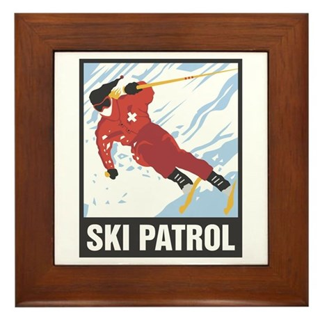 Ski Patrol Framed Tile