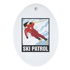 Ski Patrol Oval Ornament