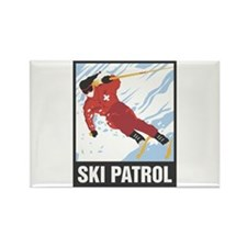 Ski Patrol Rectangle Magnet