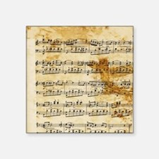 "Vintage Music Square Sticker 3"" x 3"""