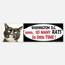 Too MANY RATS in Washington DC bumper sticker