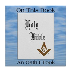 The Masonic Oath Tile Coaster