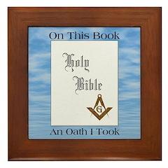 The Masonic Oath Framed Tile