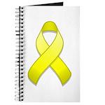 Yellow Awareness Ribbon Journal