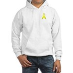 Yellow Awareness Ribbon Hooded Sweatshirt
