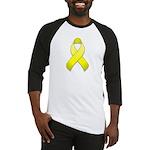Yellow Awareness Ribbon Baseball Jersey