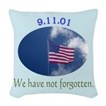 9-11 We Have Not Forgotten Woven Throw Pillow