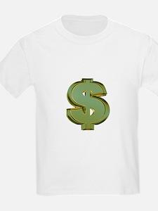 Dollar Signs Kids T-Shirt