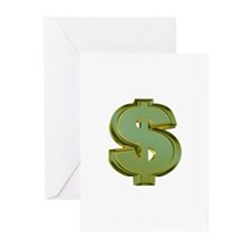 Dollar Signs Greeting Cards (Pk of 10)