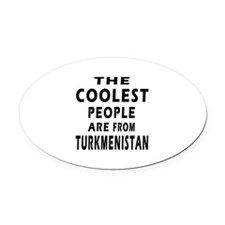 The Coolest Turkmenistan Design Oval Car Magnet