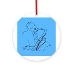 Blues Saxman (Lester) Ornament (Round)