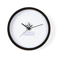 Back logo Wall Clock