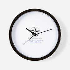Cute Logo backs Wall Clock