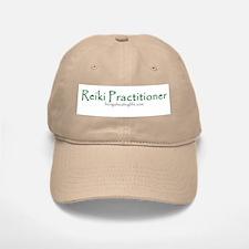 Reiki Practitioner, green Baseball Baseball Cap