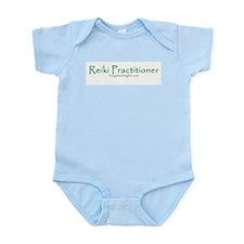 Reiki Practitioner, green Infant Bodysuit