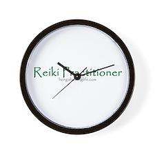 Reiki Practitioner, green Wall Clock