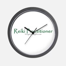 Reiki Practitioner, green Wall Clock