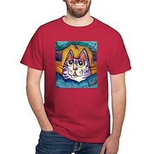 Fun Happy Purple Cat T-Shirt