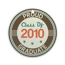 Vintage Class of 2010 Ornament (Round)