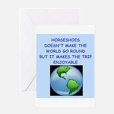 horseshoes Greeting Card