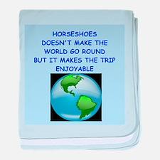 horseshoes baby blanket