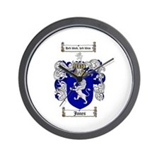 Jones Coat of Arms / Family Crest Wall Clock