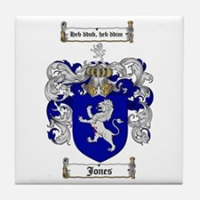Jones Coat of Arms / Family Crest Tile Coaster