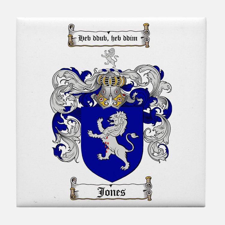 Jones Coat of Arms / Family Crest Tile Coaster