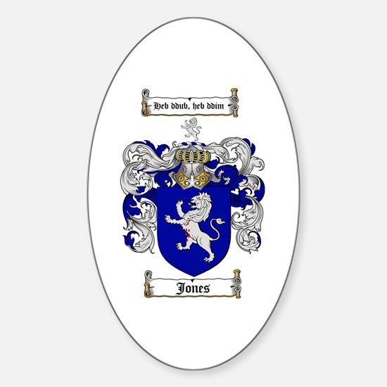 Jones Coat of Arms / Family Crest Oval Decal