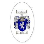 Jones Coat of Arms / Family Crest Oval Sticker