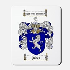 Jones Coat of Arms / Family Crest Mousepad