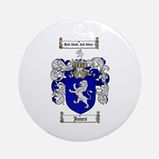 Jones Coat of Arms / Family Crest Ornament (Round)