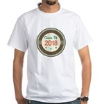 Class of 2018 Vintage White T-Shirt