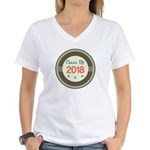 Class of 2018 Vintage Women's V-Neck T-Shirt