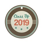 Class of 2019 Vintage Ornament (Round)